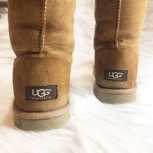 UGG Tall Boot, Chestnut, Size 10